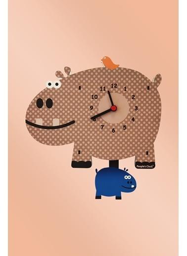 Peoples Clock Hipo Sallanan Sarkaçlı Çocuk Odası Duvar Saati Renkli